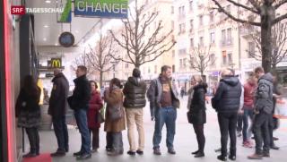 Video «Keine Euros mehr nach SNB-Entscheid» abspielen