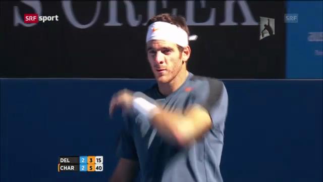 Australian Open: Niederlage von Del Potro («sportaktell»