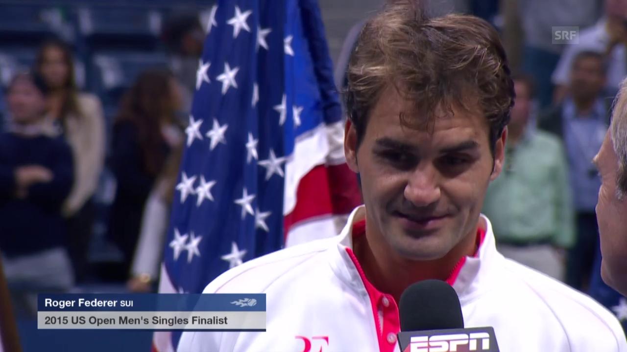 Tennis: US Open, Final, Interview Federer