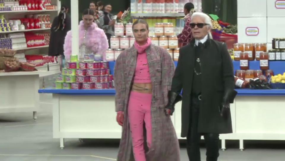Lagerfelds Fashion-Show für Chanel