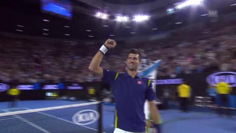 Video «Novak Djokovic verwertet seinen 3. Matchball» abspielen