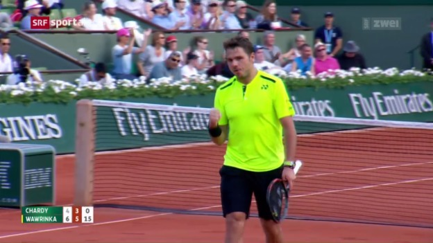 Video «Wawrinka in Paris in Runde 3» abspielen