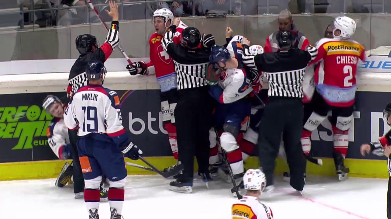 Eishockey: Deutschland Cup, Slowakei - Schweiz, Strafe Moser