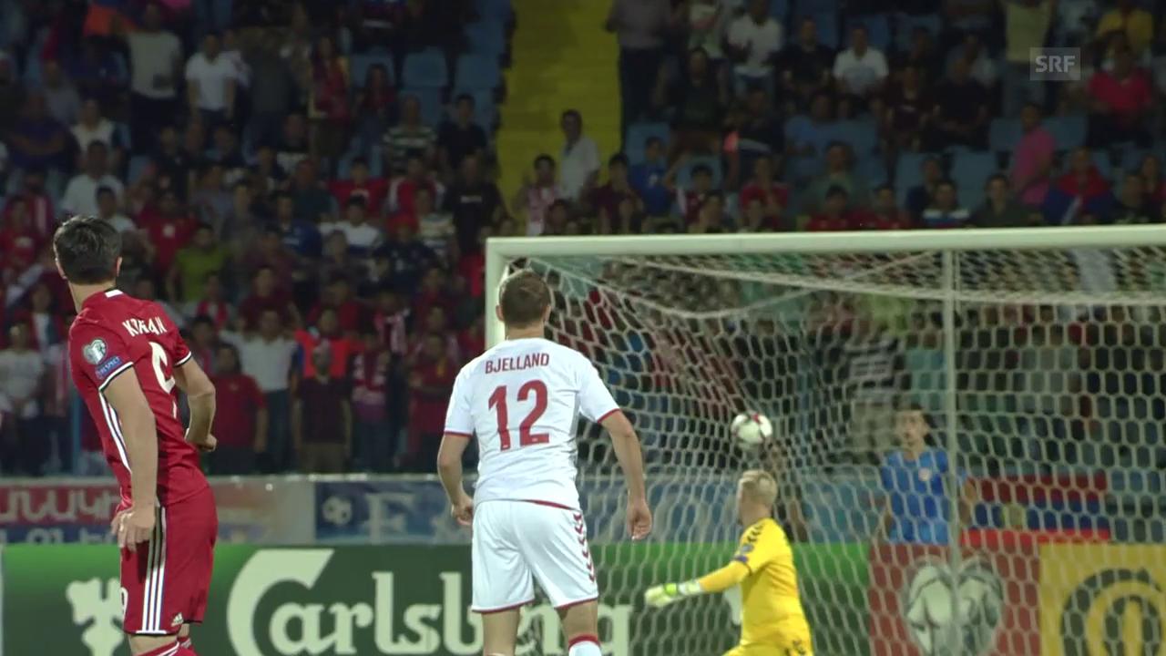 2 herrliche Tore bei Armenien - Dänemark