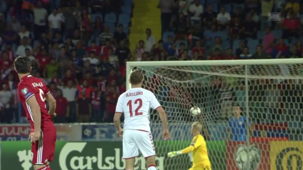 Video «2 herrliche Tore bei Armenien - Dänemark» abspielen