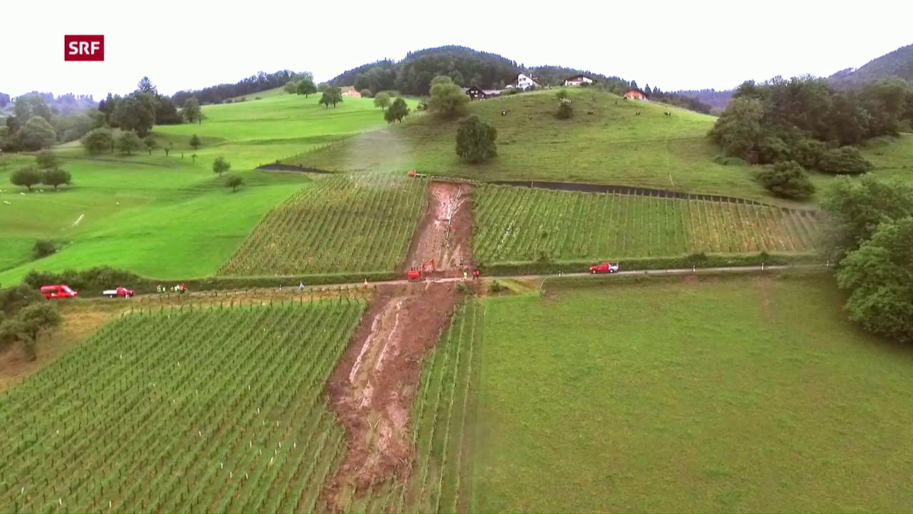 Schwere Unwetter in der Schweiz