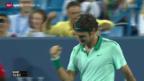 Video «Tennis: Halbfinal Federer - Raonic» abspielen