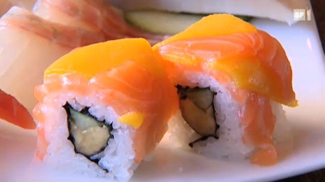 Der Kassensturz geht der Frage nach dem guten Gewissen beim Sushi-Essen in der Schweiz nach.
