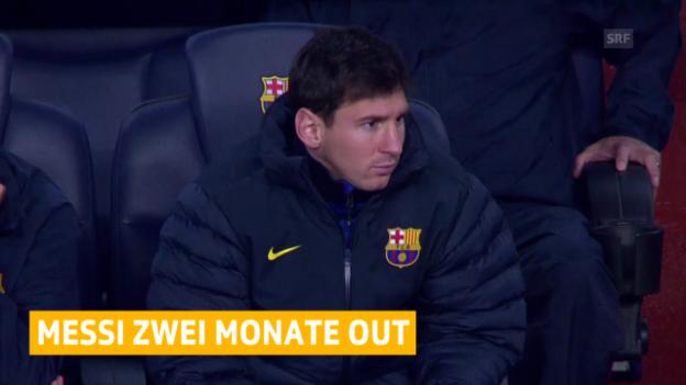 Video «Fussball: Messi fällt länger aus («sportlive»)» abspielen