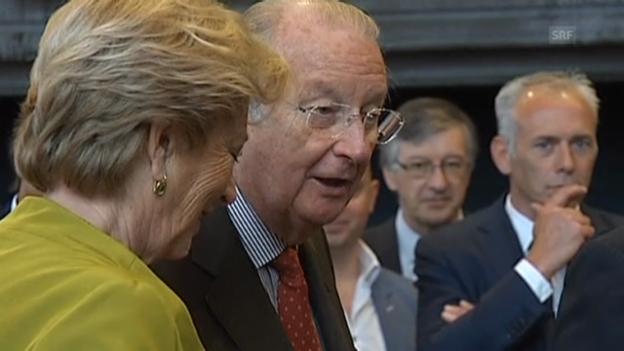 Video «Albert II. und Gattin Paola in Ghent (unkommentiert)» abspielen