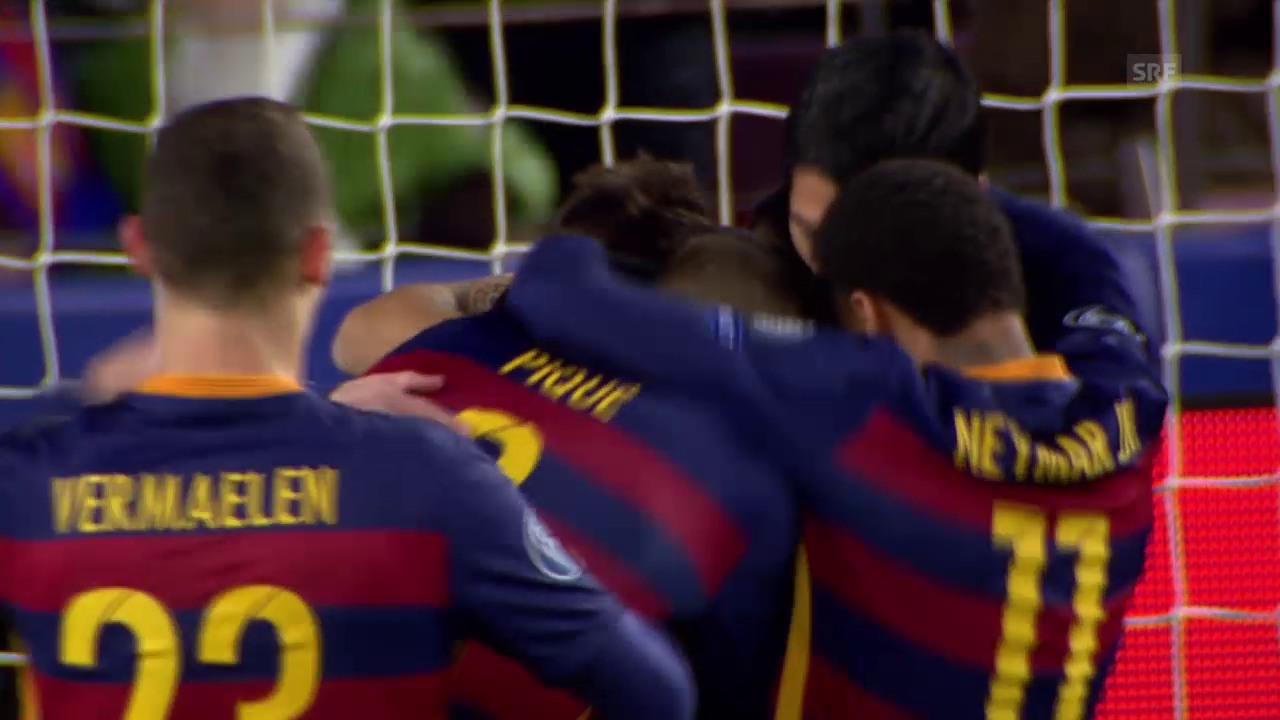 Fussball: Champions League, Barcelona - Roma, 4:0 Pique