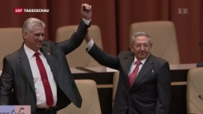 Video «Miguel Diaz Canel neu an der Spitze Kubas» abspielen
