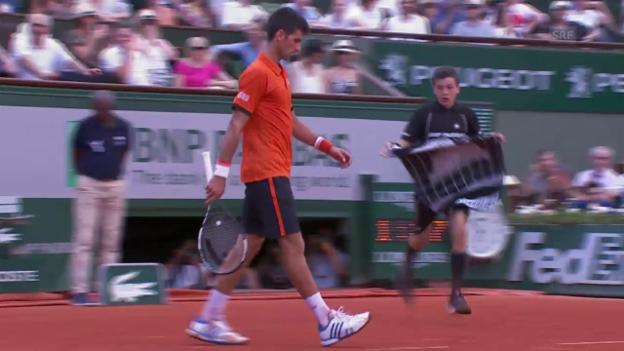 Video «Tennis: French Open Halbfinal, Djokovic - Murray: Die Satzbälle» abspielen