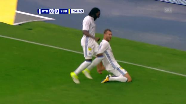Video «Jarmolenkos Tor und Vorlage gegen YB im Hinspiel» abspielen