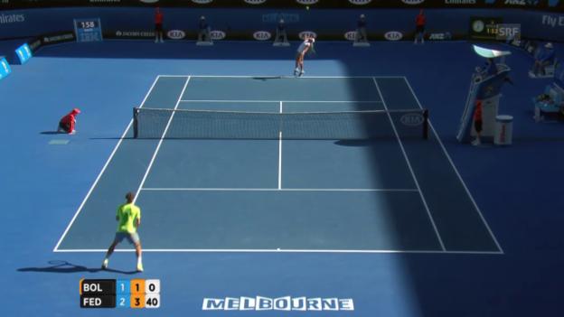 Video «Tennis: Australian Open, Federer - Bolelli Highlights» abspielen