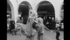 Video «1970: Strassentheater von Dimitri in Ascona (aus «Tagesschau» vom 16.11.1970)» abspielen