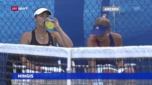 Tennis: Martina Hingis siegt im Doppel («sportaktuell»)