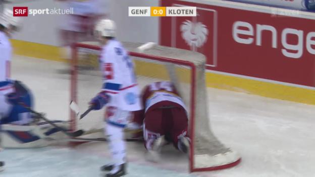 Video «Eishockey: Schweizer Cup, Halbfinal, Servette - Kloten Flyers» abspielen