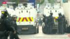 Video «Belfast: Zahlreiche Verletzte bei neuen Protesten» abspielen
