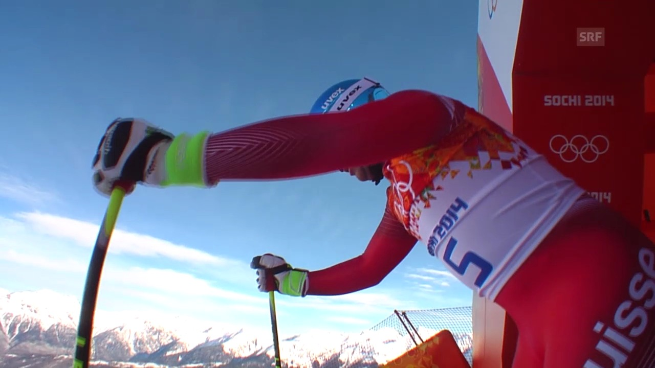 Ski, Männer-Abfahrt, Training, Fahrt Feuz