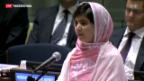 Video «Taliban-Opfer spricht vor UNO» abspielen