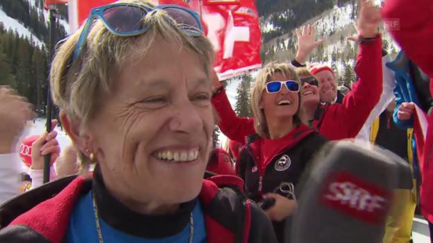 Video «Ski: Wie Patrick Küngs Eltern den WM-Coup ihres Sohns erlebten» abspielen