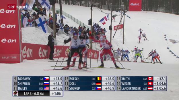Video «Biathlon: WM, Verfolgungs-Rennen» abspielen