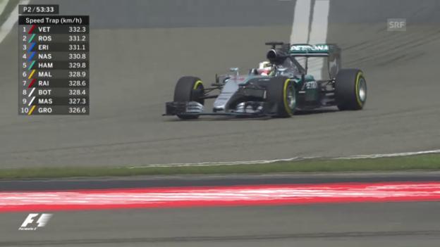 Video «Formel 1: GP China, Training, Hamilton» abspielen