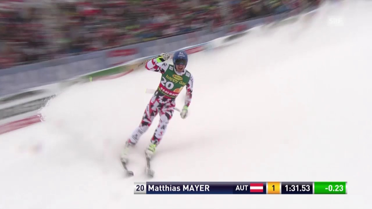 Ski Alpin, Männer SuperG, Saalbach, Fahrt von Mayer