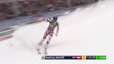 Video «Ski Alpin, Männer SuperG, Saalbach, Fahrt von Mayer» abspielen