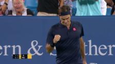 Link öffnet eine Lightbox. Video Federer setzt sich gegen Wawrinka durch abspielen