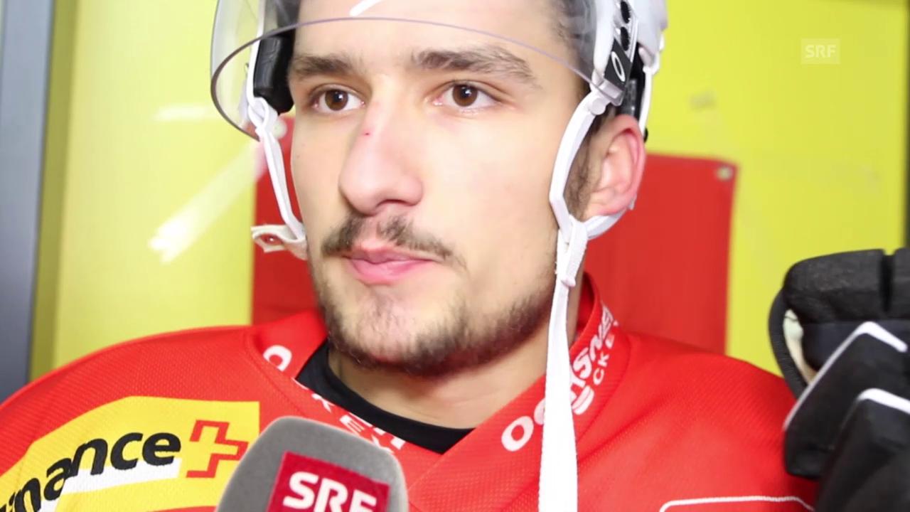 Eishockey: Deutschland Cup, Interview Vincent Praplan