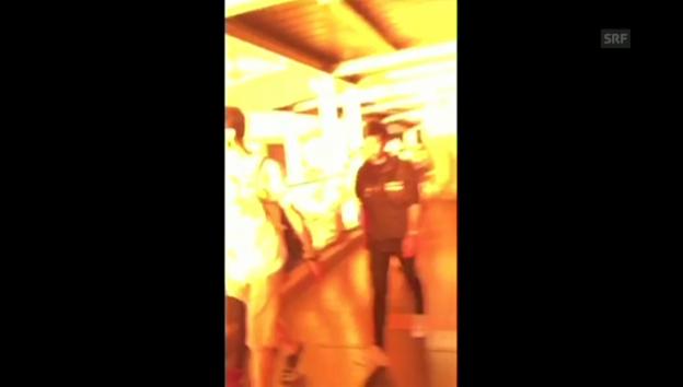 Video «Dramatisches Augenzeugenvideo des gestrigen Anschlags» abspielen