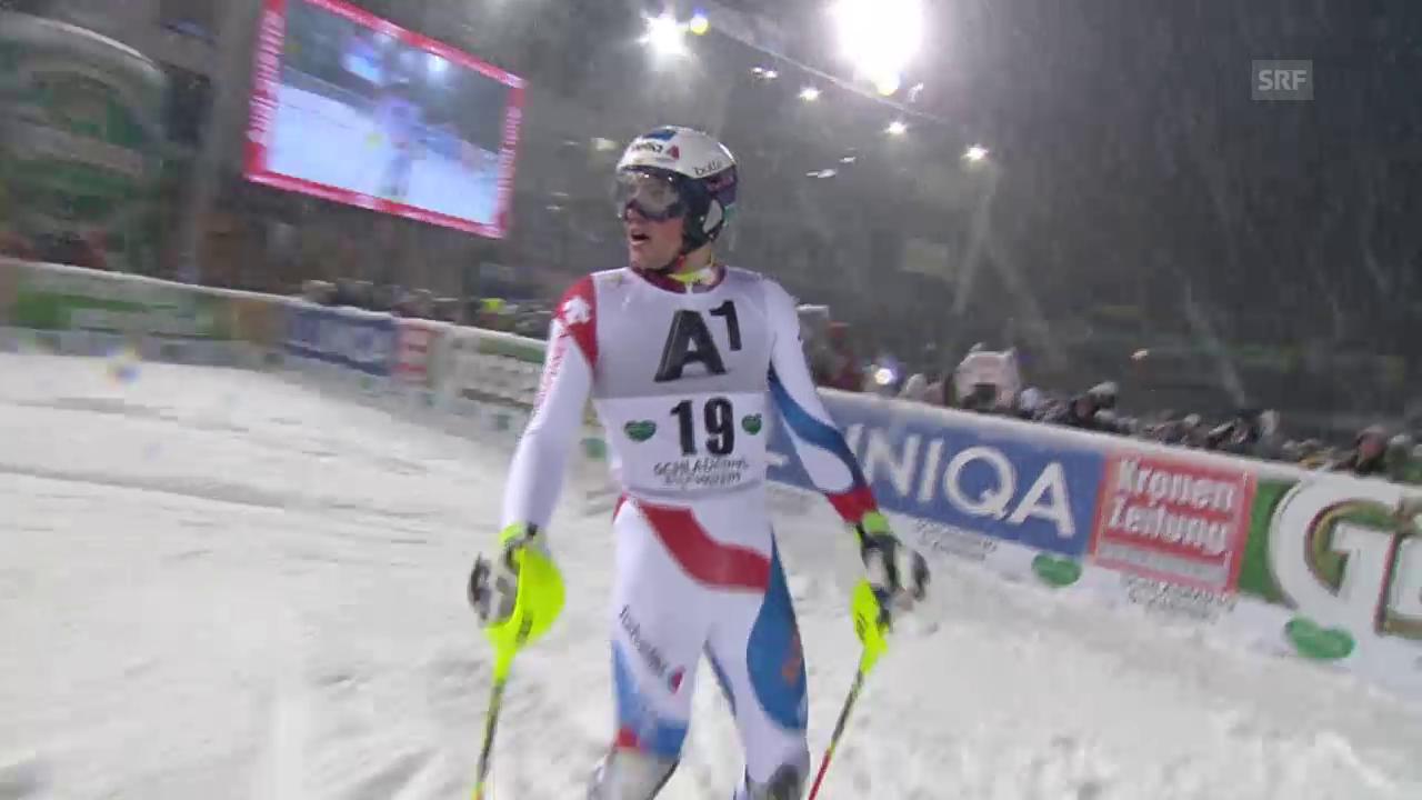 Ski Alpin: Slalom in Schladming, 1. Lauf Yule