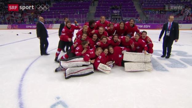 Video «Eishockey Frauen: Stimmen zu Schweiz - Schweden» abspielen