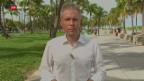 Video «Liveschaltung zu Korrespondent Thomas von Grünigen nach Miami» abspielen