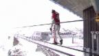 Video «Freddy Nock balanciert an seinem 50. Geburtstag» abspielen