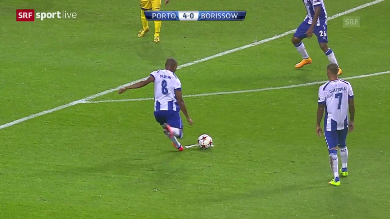 Fussball: Champions League, Yacine Brahimis Hattrick gegen BATE Borissow