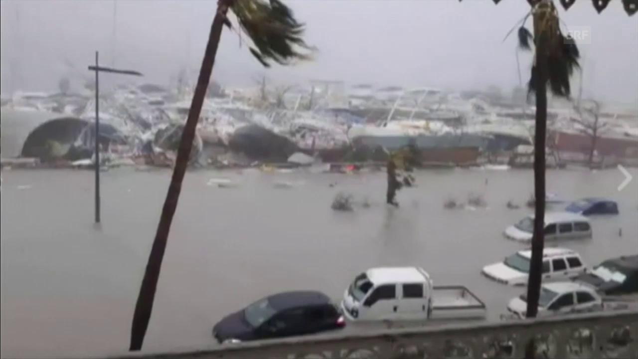 «Irma» fegt über Guadeloupe und Barbuda