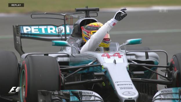 Video «Lewis Hamilton startet beim Heimrennen von der Pole Position» abspielen