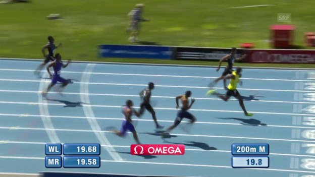 Video «Leichtathletik: Diamond League New York, 200 m» abspielen