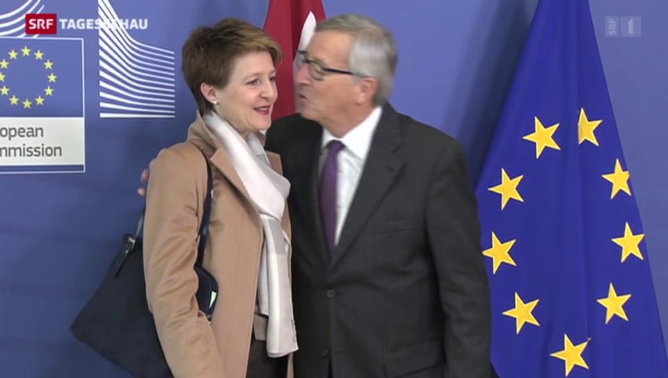 Sommaruga trifft auf Charme in Brüssel