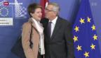 Video «Sommaruga trifft auf Charme in Brüssel» abspielen