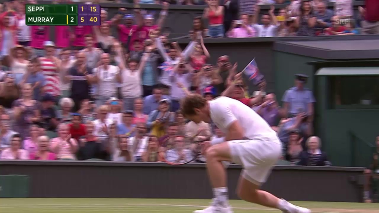 Tennis: Wimbledon, Murray - Seppi, Matchball Murray