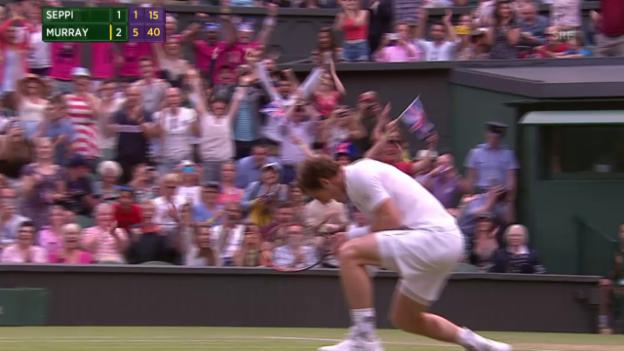 Video «Tennis: Wimbledon, Murray - Seppi, Matchball Murray» abspielen