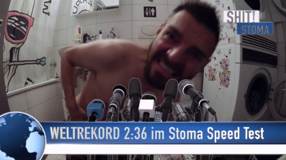 Youtube-Show aus dem Badezimmer: Robin Rehmanns Stoma-Weltrekord-Video