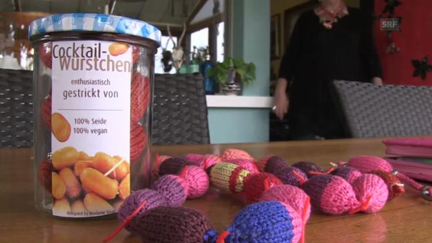 Video ««Selbstgemacht» 2014: Anleitung gestrickte Würstchenkette» abspielen