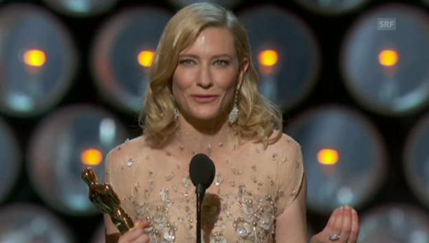 Video «Die Dankesrede von Cate Blanchett» abspielen