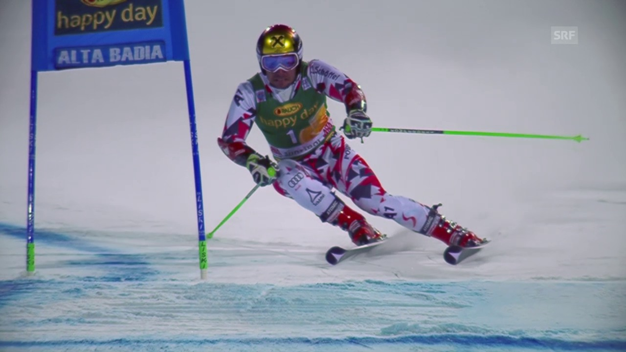 Ski: Parallel-RS, Alta Badia, Sechzehntelfinal Hirscher-Tonetti