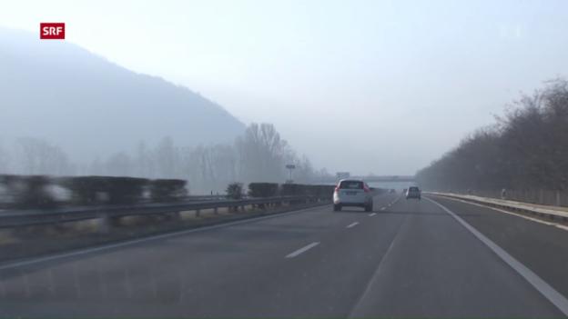 Video «Tempobeschränkung: Dicke Luft im Tessin» abspielen